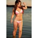Moda Star Pearl Lace Bikini Pink