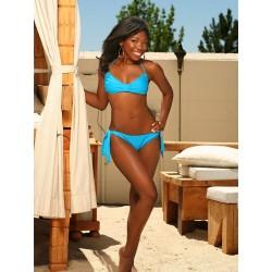 Aqua Blue Bandeau Side Tie Bikini
